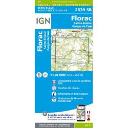 Achat Carte randonnées IGN - 2639 SB - Florac, Sainte-Enimie/Gorges du Tarn