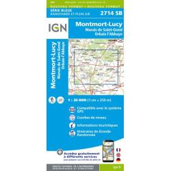Achat Carte randonnées IGN - 2714 SB - Orbais, Montmord Lucy/Marais de Saint-Gond