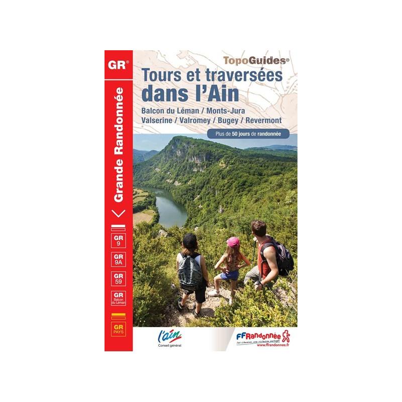 Achat Topo guide randonnées - Tours et traversées dans l'Ain - FFRP  901