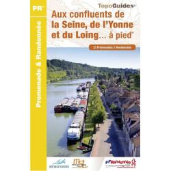 Topo guide randonnées - Aux confluents de la Seine, de l'Yonne et du Long à pieds - FFRP P774