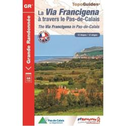 Topo guide randonnées - La Via Francigena en Pas-De-Calais - FFRP 1451
