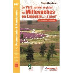 Topo guide randonnées - Le parc de Millevaches en Limousin à pied - FFRP PN17