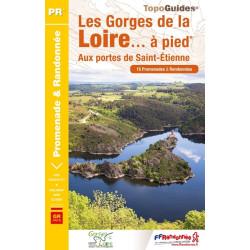 Topo guide randonnées - Les gorges de la Loire à pied - FFRP P425