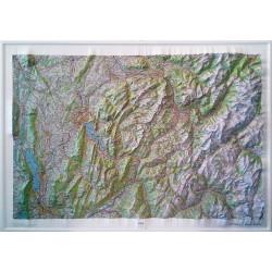 Carte en relief Annecy, Mont-Blanc 60172