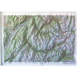 Carte en relief - Belledonne, Vanoise -  60173