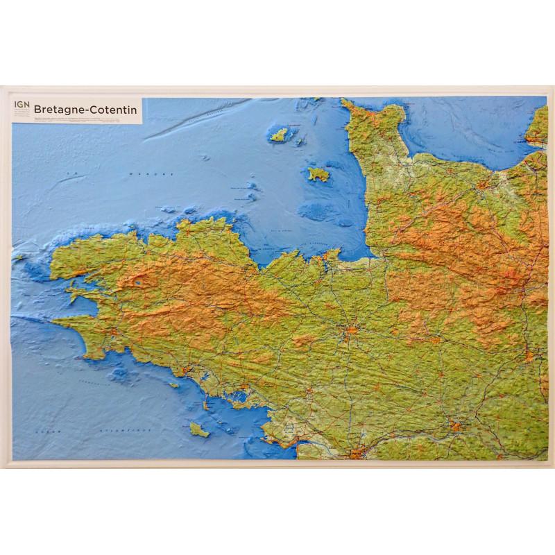 Carte en relief - Bretagne, Contentin -  60303