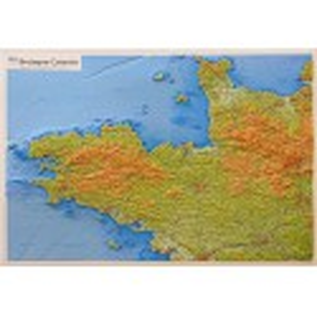 Carte en relief - Bretagne, Cotentin -  60303