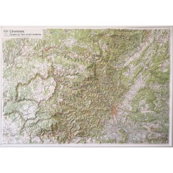 Carte en relief - Cevennes, Gorges Tarn et Ardeche -  60179