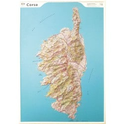 Carte en relief - Corse - 60201