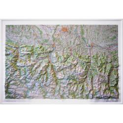 Carte en relief - Hautes Pyrénées - 60175