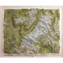 Carte en relief - Massif du Mont-Blanc - 60054