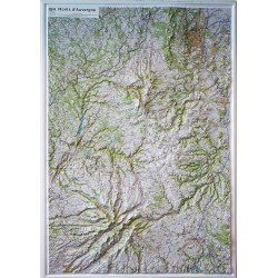Carte en relief - Monts d'Auvergne - 60176