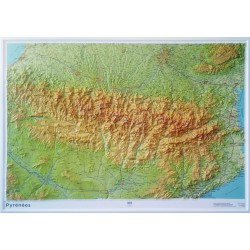Carte en relief - Pyrénées - 60302