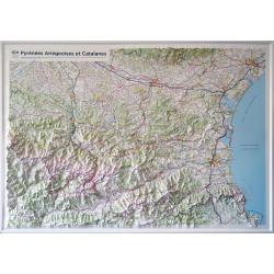Carte en relief - Pyrénées Ariégeoises et Catalanes - 60203