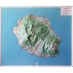 Carte en relief - Île de la Réunion - 60103