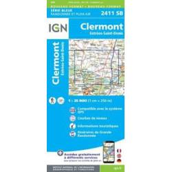 Achat Carte randonnées IGN  - 2411 SB  Estrées Saint-Denis Clermont