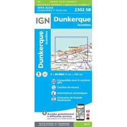 Achat Carte randonnées  IGN - 2302 SB Dunkerque Gravelines
