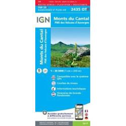 Achat Carte randonnées IGN - 2435 OTR  Monts Du Cantal - PNR des volcans d'Auvergne