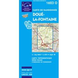 Achat carte de randonnées - IGN 1623 0 - Doué la Fontaine