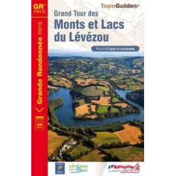 Achat Topo guide randonnées - Grand Tour des Monts et Lacs du Lévézou - FFRP 1201
