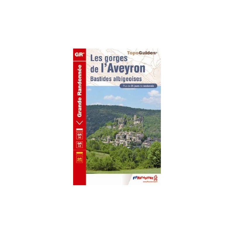Achat Topo guide randonnées - Les gorges de l'Aveyron - Bastides albigeoises - FFRP 323