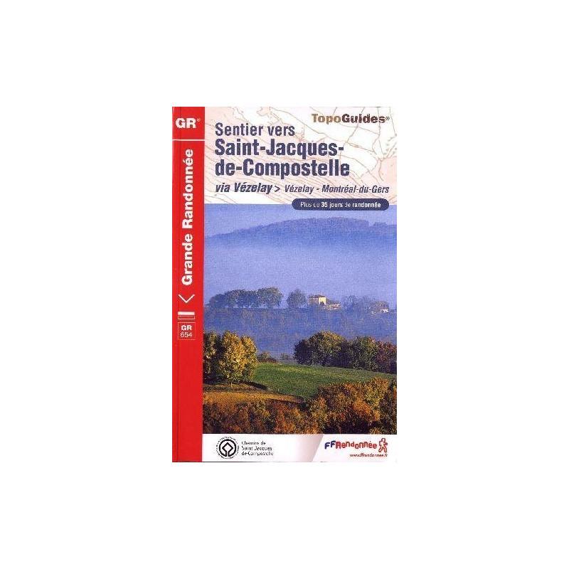 Achat Topo guide randonnées - Sentier St-Jacques-de-Compostelle : Vézelay-Montréal du Gers-Périgueux - FFRP 6542