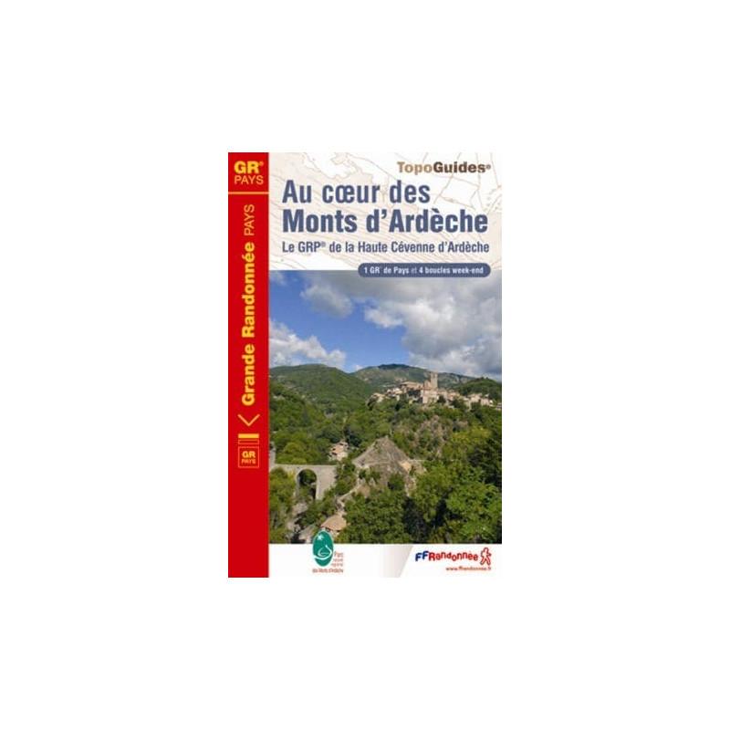 Achat Topo guide randonnées - Au coeur des Monts d'Ardèche - FFRP 702