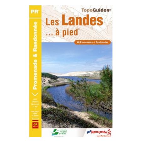 Achat Topo guide randonnées - Les Landes... à pied®  - FFRP D040