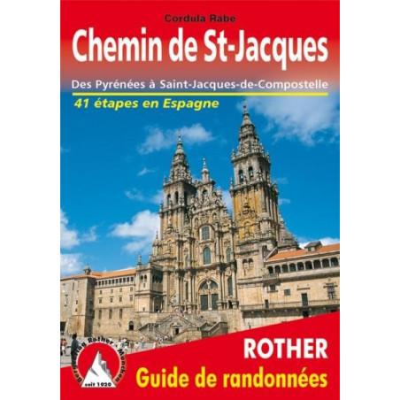 Achat Topo guide randonnées - Chemin de St-Jacques en Espagne - Des Pyrénées à Saint-Jacques-de-Compostelle - Rother