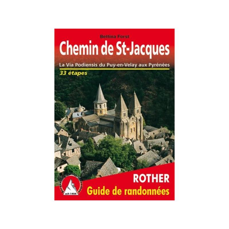 Achat Topo guide randonnées - Chemin de St-Jacques - La Via Podiensis du Puy-en-Velay aux Pyrénées - Rother