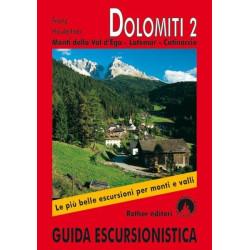 Achat Topo guide randonnées - Dolomites 2, Monti della Val d'Ega – Latemar – Catinaccio - Rother