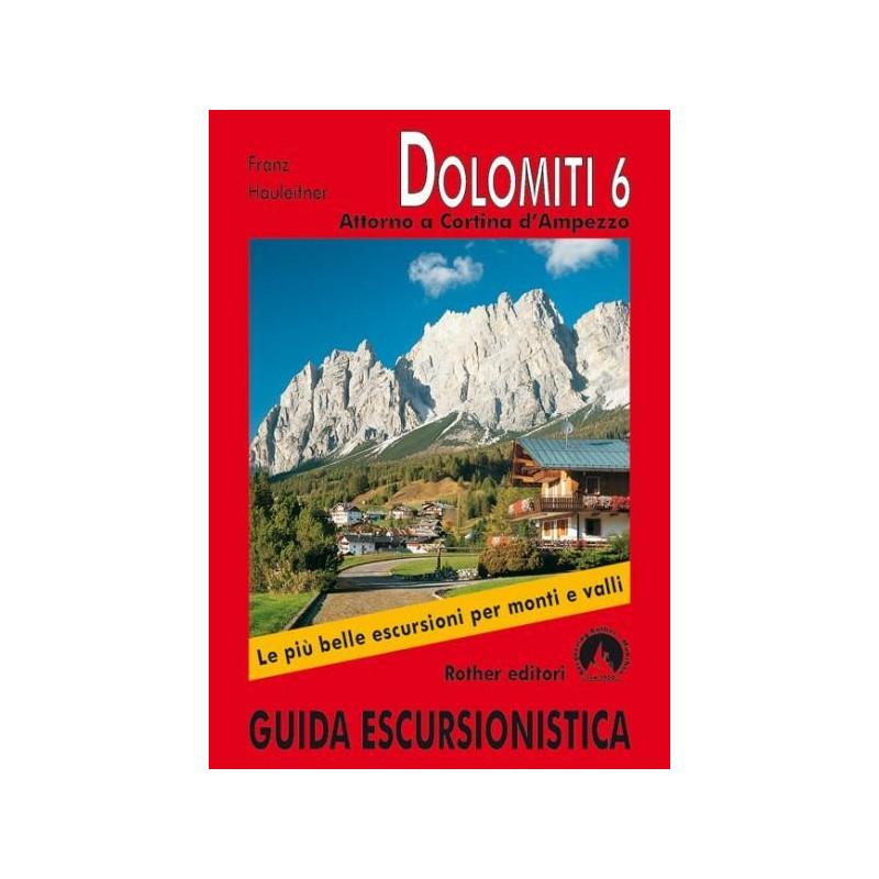 Achat Topo guide randonnées - Dolomites 6, Attorno a Cortina d'Ampezzo - Rother
