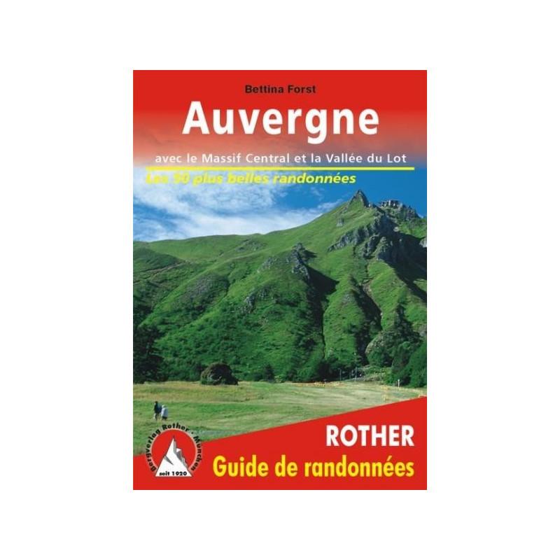 Achat Topo guide randonnées - Auvergne, avec le Massif Central et la Vallée du Lot - Rother