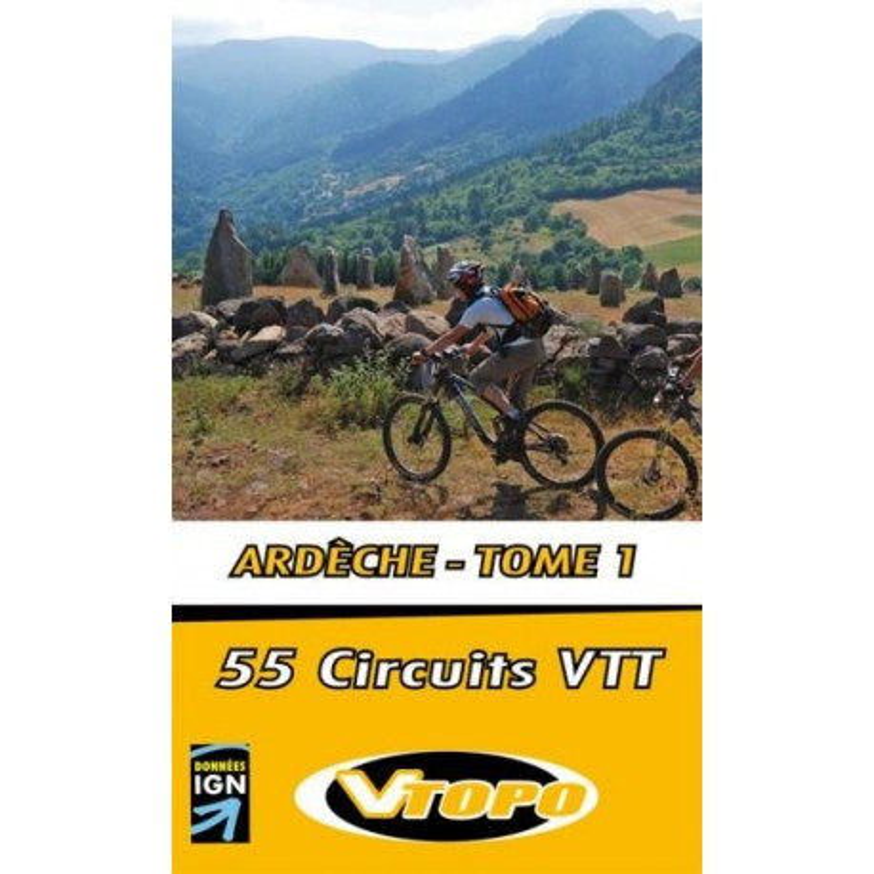 Achat Guide VTT - Ardèche - Tome 1, 45 circuits VTT - Vtopo
