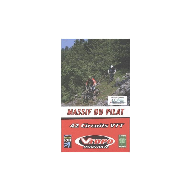 Achat Guide VTT - Massif du Pilat, 42 circuits VTT - Vtopo