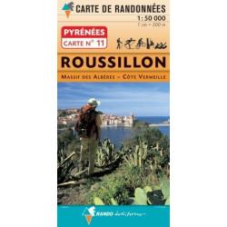 Achat Carte randonnées - Roussillon -  Randoéditions N°11