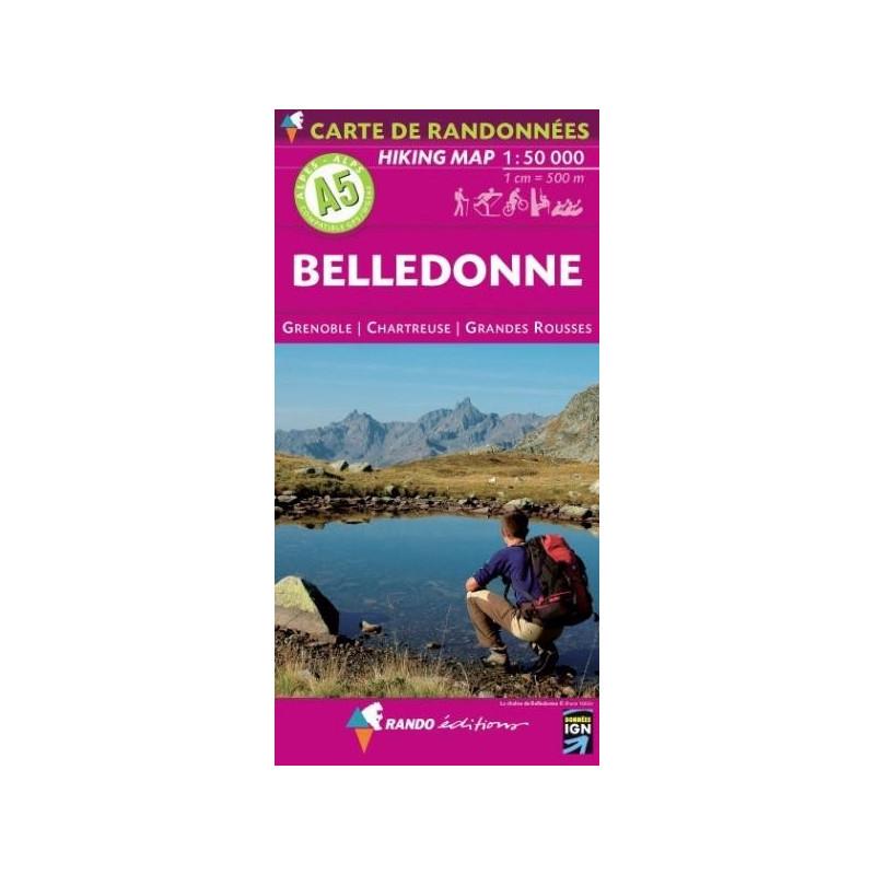 Achat Carte randonnées - Belledonne - Randoéditions A5