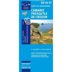Achat Carte randonnées IGN Camaret Presqu'île de Crozon - 0418 ET