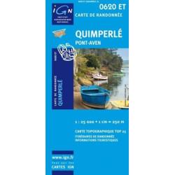 Achat Carte randonnées IGN Quimperlé - Pont-Aven - 0620 ET