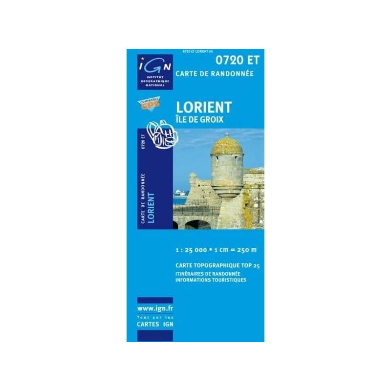 Achat Carte randonnées IGN Lorient - 0720 ET