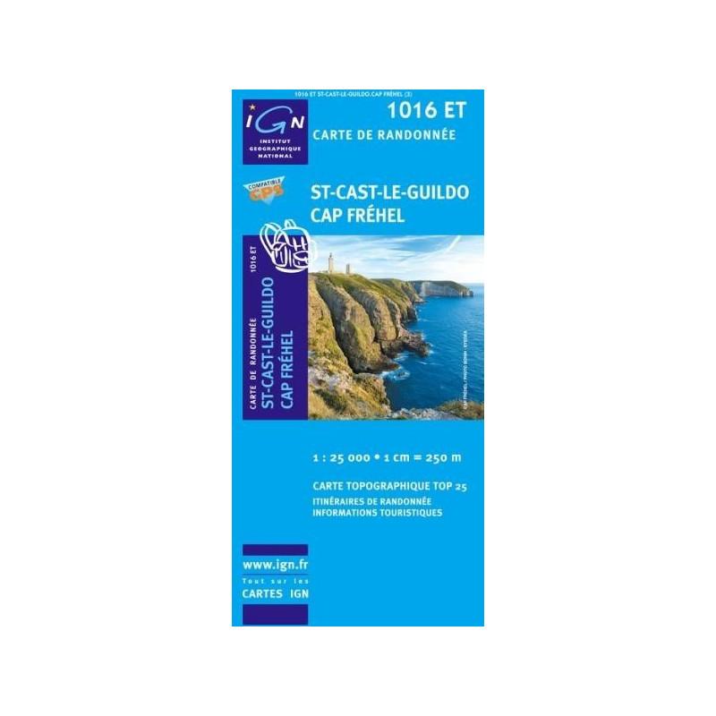 Achat Carte randonnées IGN  St-Cast-Le-Guildo - Cap Fréhel - 1016 ET