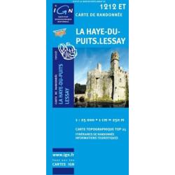 Achat Carte randonnées IGN La Hay-du-Puits - Lessay - 1212 ET