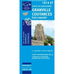 Achat Carte randonnées IGN Granville -Coutances - 1214 ET