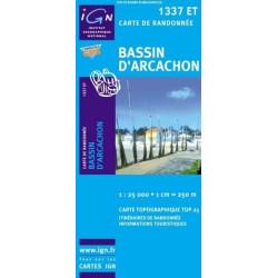 Achat Carte randonnées IGN Bassin d'Arcachon - 1337 ET
