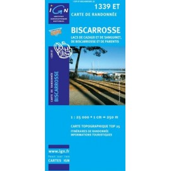 Achat Carte randonnées IGN Biscarosse - 1339 ET