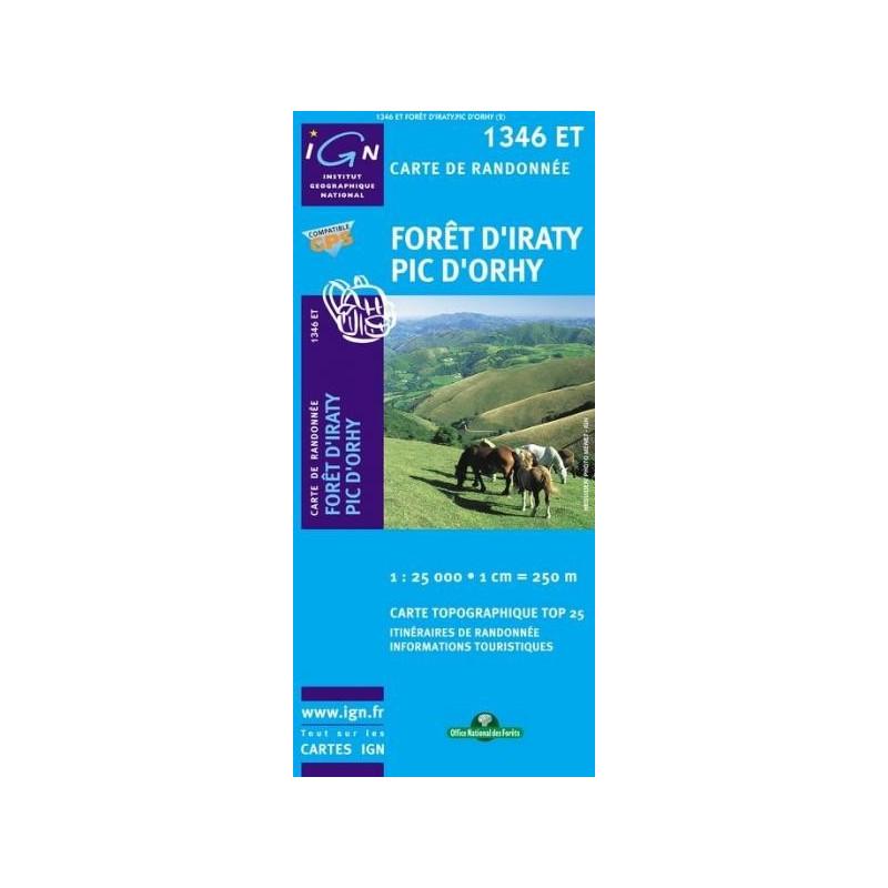 Achat Carte randonnées IGN Forêt d'Iraty - Pic d'Orhy - 1346 ET