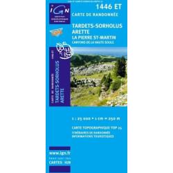 Achat Carte randonnées IGN Tardets - Sorholus - Arette - 1446 ET