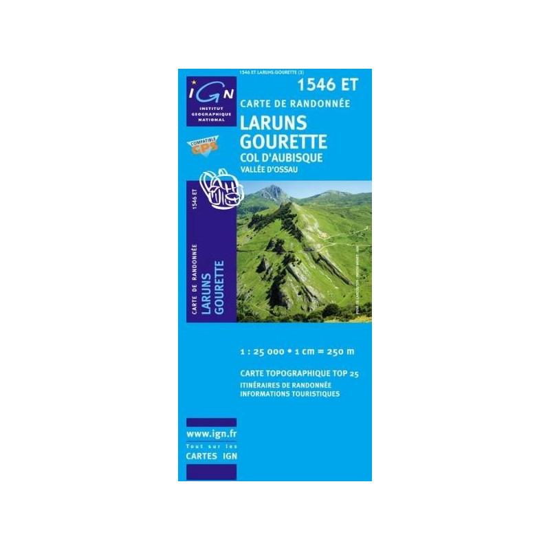 Achat Carte randonnées IGN Laruns - Gourette - 1546 ET