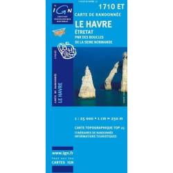 Achat Carte randonnées IGN Le Havre - Etretat - 1710 ET