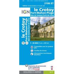 Achat Carte randonnées IGN Le Crotoy Fort Mahon Plage - Baie de Somme forêt de Crécy - 2106 ET